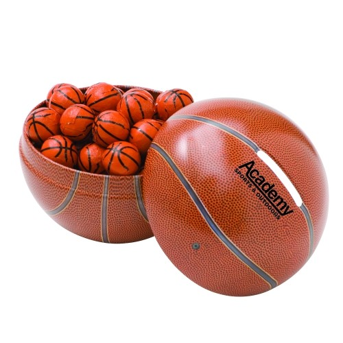 Mini Basketball Tin Bank Chocolate Sport Balls Party Favor