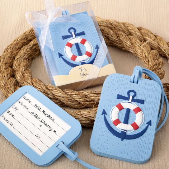 951f32697 Nautical Theme Luggage Tag Party Favors