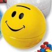 Mini Smiley Face Tin Bank-Chocolate Sport Balls Party Favor | Barmitzvah.com