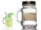 Mason Jar & Love On The Beach Designed Label Party Favors | Barmitzvah.com