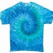 Blue Jerry Tie Dye On Hanes Tee Party Favor | Barmitzvah.com