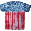 Flag Tie Dye On Hanes Tee Party Favor | Barmitzvah.com