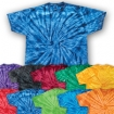 Spider Tie Dye On Hanes Tee Party Favor | Barmitzvah.com