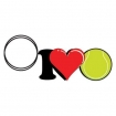 I Love Tennis Key Chain Party Favor | Barmitzvah.com