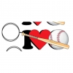 I Love Baseball Key Chain Party Favor | Barmitzvah.com