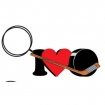 I Love Hockey Key Chain Party Favor | Barmitzvah.com