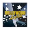 Hollywood Lights Luncheon Napkins Party Favor | Barmitzvah.com