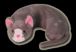 Gray Cat Critter Neck Pillow Party Favor | Barmitzvah.com