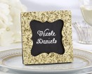All that Glitters Gold Glitter Frame / Placecard Holder  | Barmitzvah.com