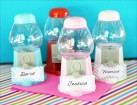 Mini Gumball Machine Place Card Holders Party Favor | Barmitzvah.com
