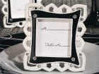 Stylish Black And White Place Card Frame Party Favor | Barmitzvah.com