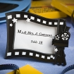 Hollywood Movie Themed Place Card/Photo Frame Party Favor | Barmitzvah.com