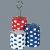 Poker Chip Placecard Holder/Balloon Holder Party Favor | Barmitzvah.com