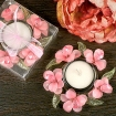 Elegant Frosted Glass Flower Candle Holder Party Favor | Barmitzvah.com
