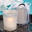 Bling Collection White or Black Candle Holder Party Favor | Barmitzvah.com