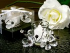 Black & White Crystals Flower Candle Holder Party Favor | Barmitzvah.com