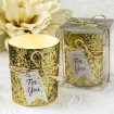 Gold or Silver Beaded Bling Candle  | Barmitzvah.com
