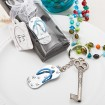Beach Themed Metal Flip-Flop Keychain Party Favor | Barmitzvah.com