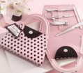 Pink Polka Purse Manicure Set Party Favor | Barmitzvah.com