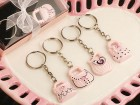 Pink and Black Purse Key Chains Party Favor | Barmitzvah.com