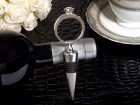 Bling  Diamond  Ring Silver Wine Stopper Party Favor | Barmitzvah.com
