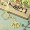 Gold Metal Crown Designed Key Chain Party Favor  | Barmitzvah.com