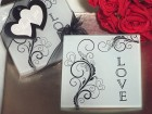 Stylish Love Glass Coasters Party Favor | Barmitzvah.com